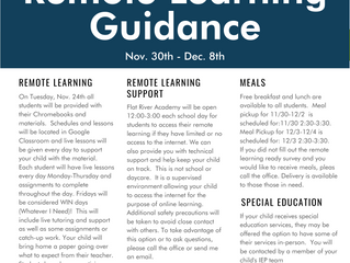 Remote Learning Guidance 11/30-12/9