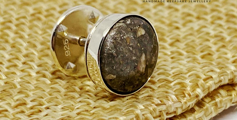 Cremation ash pin badge