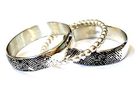 silver fingerprint rings