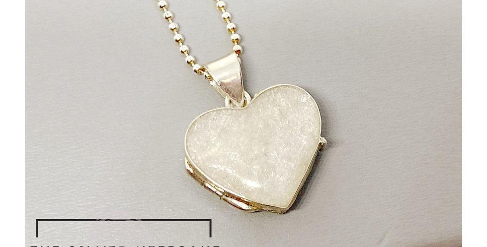 Sterling silver breastmilk locket