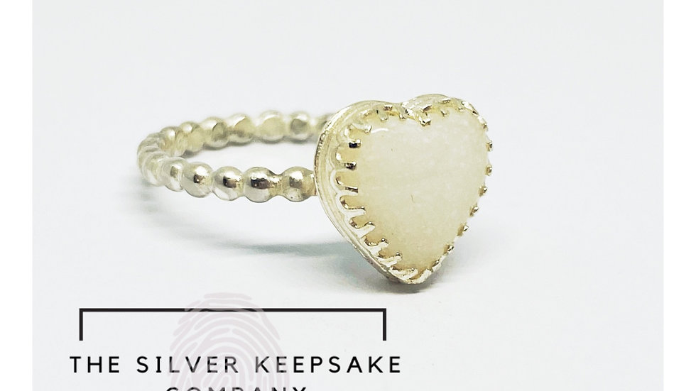 Breastmilk Heart Ring