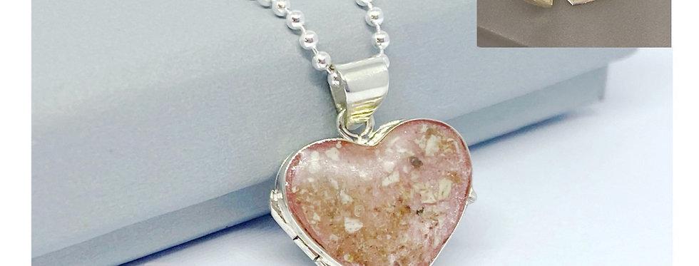 Keepsake heart locket