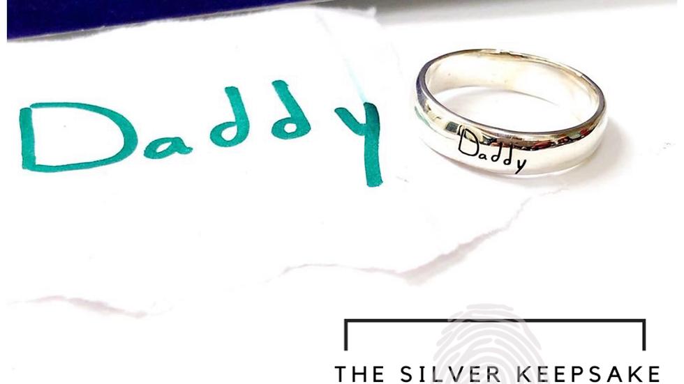 handwriting keepsake ring