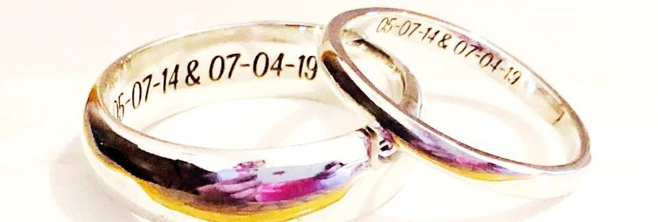 Personalised wedding bands (pair)