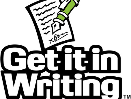 'Get It In Writing'