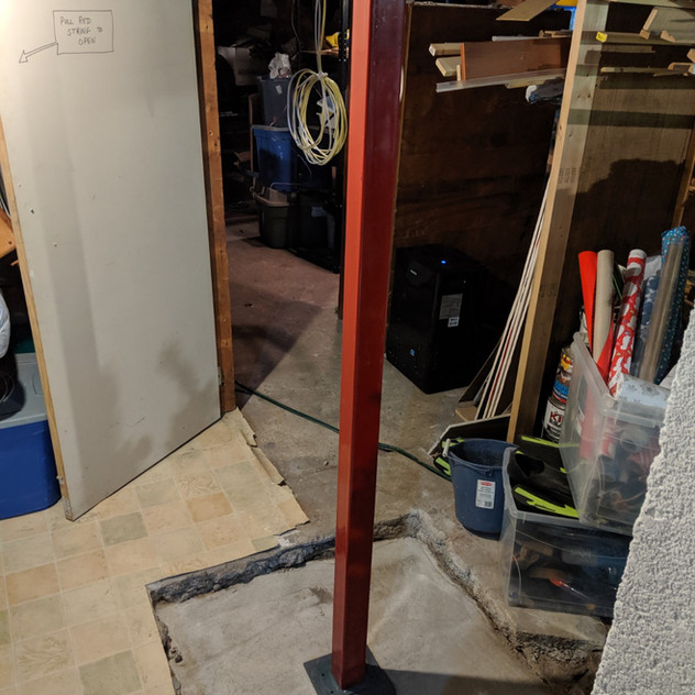 Ottawa Basement slab footing pads