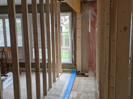 Ottawa Structural Kitchen Wall Removed and LVL Beam Installed