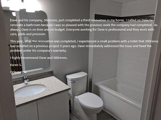 Orleans ON Bathroom Renovation picutre