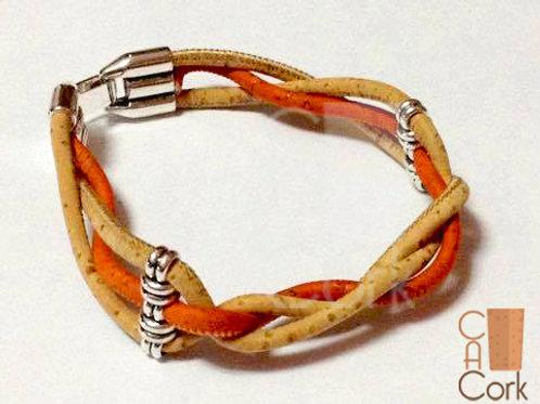 Bracelet 3 cross-cork wires