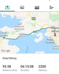 Ride 73 - day 97 - from Corinth to Athens (Greece) - 19 September 20