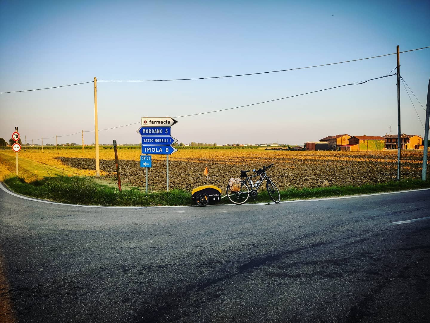 Ride 68 - day 91 - from Bologna to Faenza (Italy) - 13 September 20