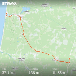 from mimizian to Onesse-et-Laharie (France) 12 July 20