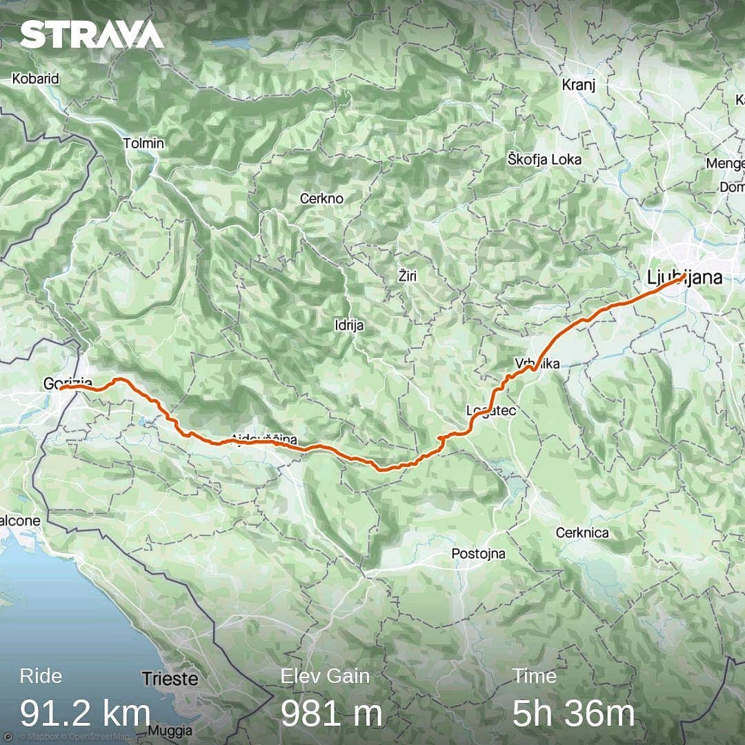 Ride 64 - day 87 - from Ljubljana (Slove