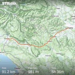 Ride 64 - day 87 - from Ljubljana (Slove