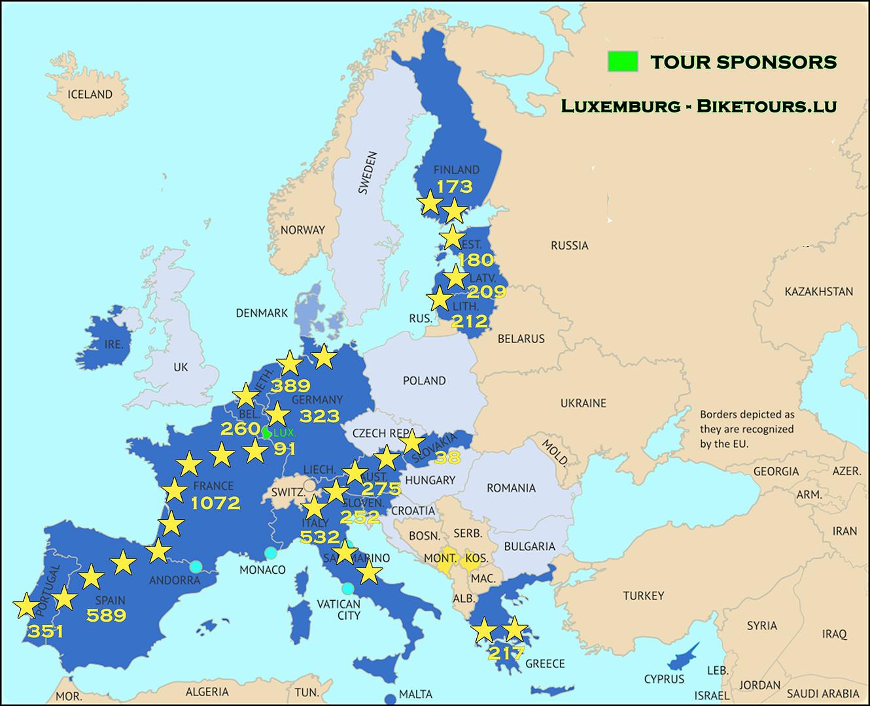 Tour's Map - Sponsors