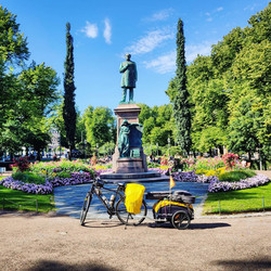 Ride 51 - from the port to the center of Helsinki (Finland) - 23 August 20