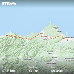 Ride 35 - from Gijon to Novellana (Spain) - 22 July 20