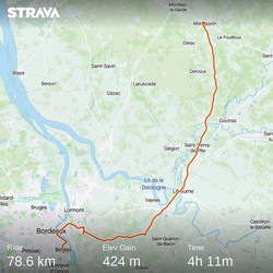 from Montguyon to Bordeaux (France)