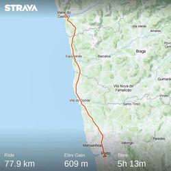 Ride 41 - from Viana do Castelo to Gaia Porto