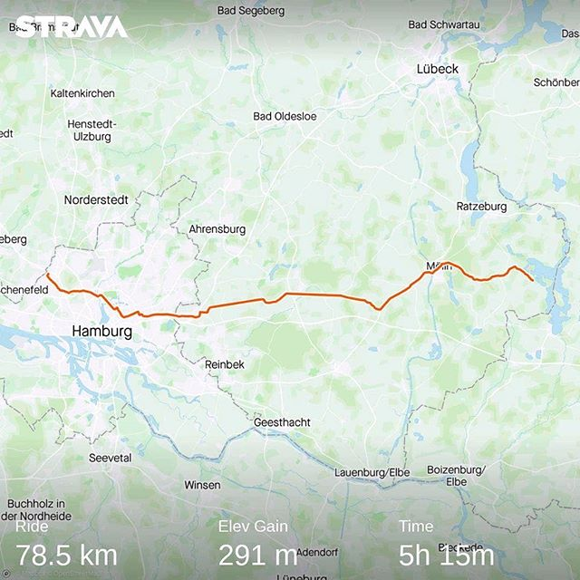 Ride 01 - from Seedorf to Hamburg