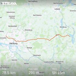 Ride 01 - from Seedorf to Hamburg