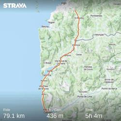 Ride 40 - from Mos - Vigo (Spain) to Viana Do Castelo (Portugal)