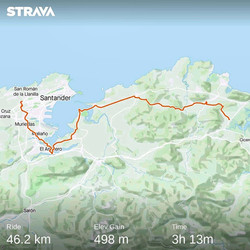 Ride 31 - from Escalante to Santander (Spain) - 18 July 20