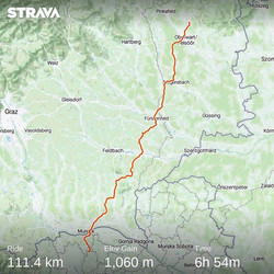 Ride 61 - day 84 - from Bad Tatzmannsdorf (Austria) to Zgornja Velka - 5 September 20