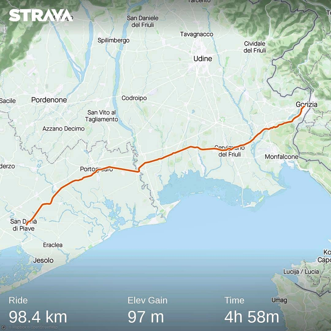 Ride 65 - day 88 - from Gorizia to San Dona' di Piave (Italy) - 9 September 20