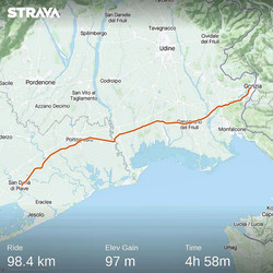 Ride 65 - day 88 - from Gorizia to San Dona' di Piave (Italy) - 9 September 20