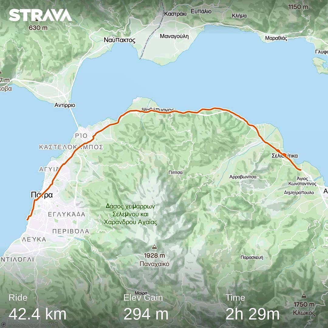 Ride 71 - day 95 - from Patras to Aigio (Greece) - 17 September 20
