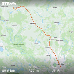 Ride 57 - day 78 - from Kalimynai to Vilnius (Lithuania) - 29 August 20