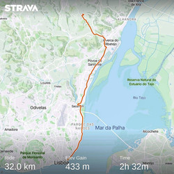 Ride 47 - from Lisbon to Santiago Dos Velhos -Carrier Location (Portugal) - 3 August 20