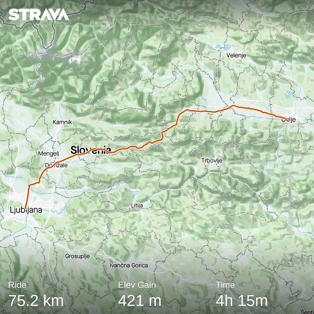 Ride 63 - day 86 - from Celje to Ljubljana 7 September 20
