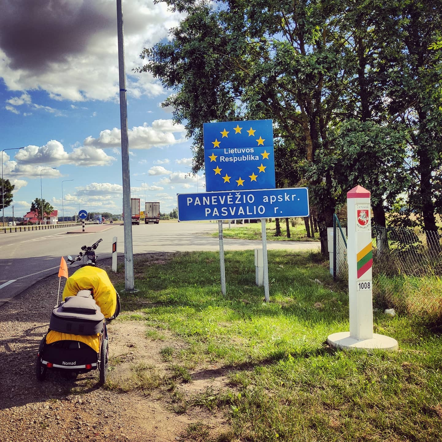 Ride 55 - day 76 - from Riga (Latvia) to Panevėžys (Lithuania) - 28 August 20