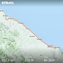 Ride 70 - day 93 - from Riccione to Ancona (Italy) - 15 September 20