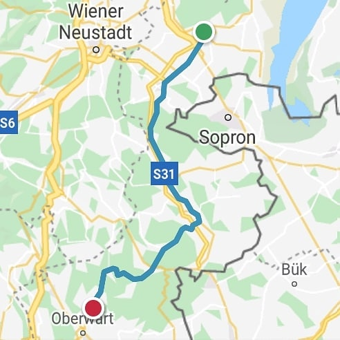 Ride 60 - day 83 - from Eisenstadt to Bad Tatzmannsdorf (Austria) - 4 September 20