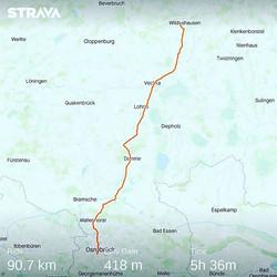Ride 05 - from Wildeshausen to Osnabrück