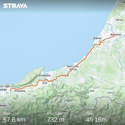from Bayonne (France) to Donostia San Sebastian (Spain) - 14 July 20