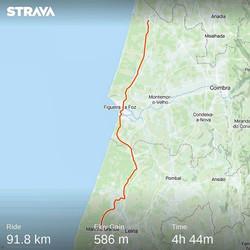 Ride 43 - from Mira to Marinha Grande (Portugal)
