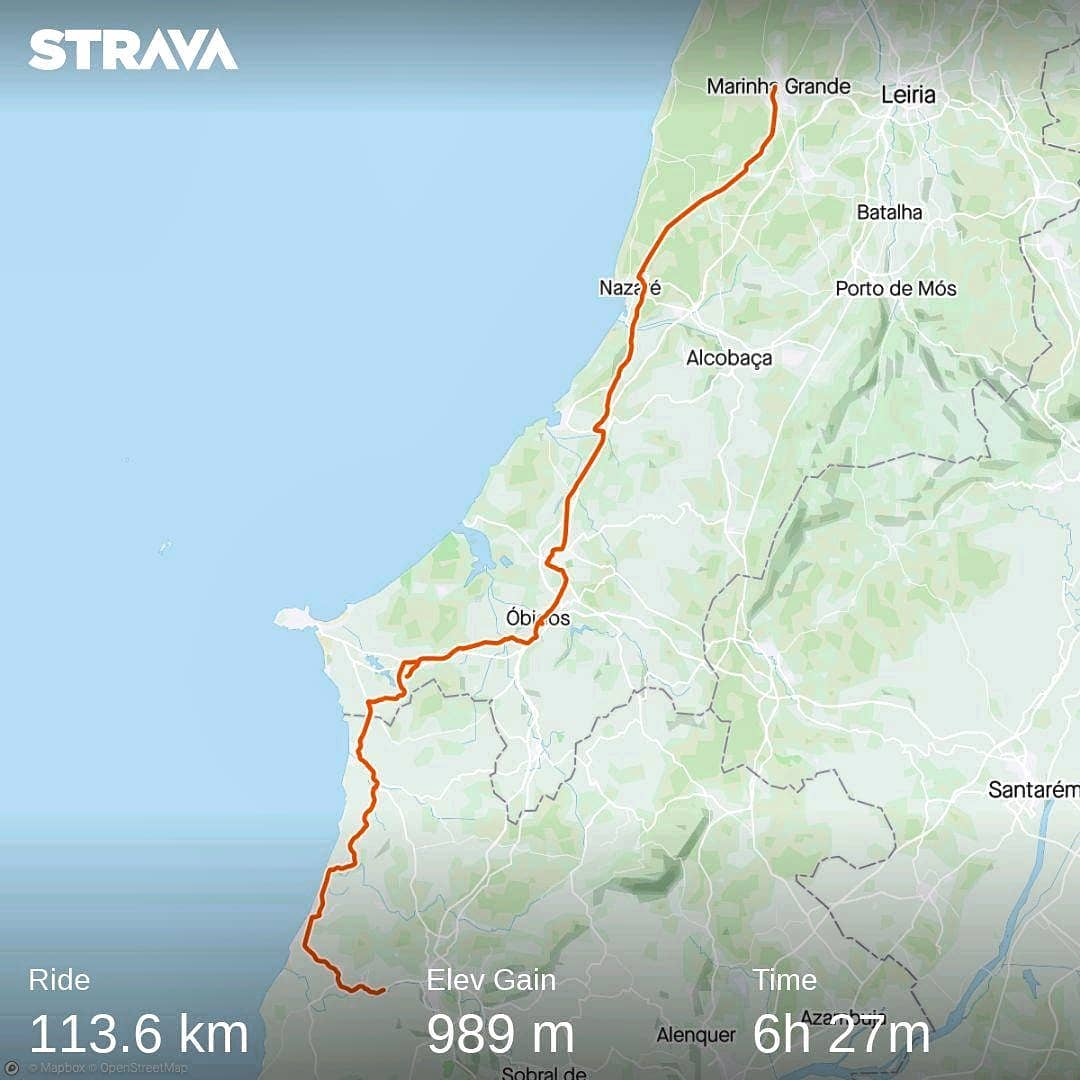Ride 44 - from Marinha Grande to Torres Vedras (Portugal)