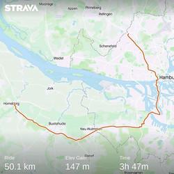 Ride 02 - from Hamburg to Horneburg