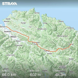 Ride 29 - from Elgóibar to Bilbao (Spain) - 16 July 20