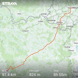 from Luxemburg to Verdun