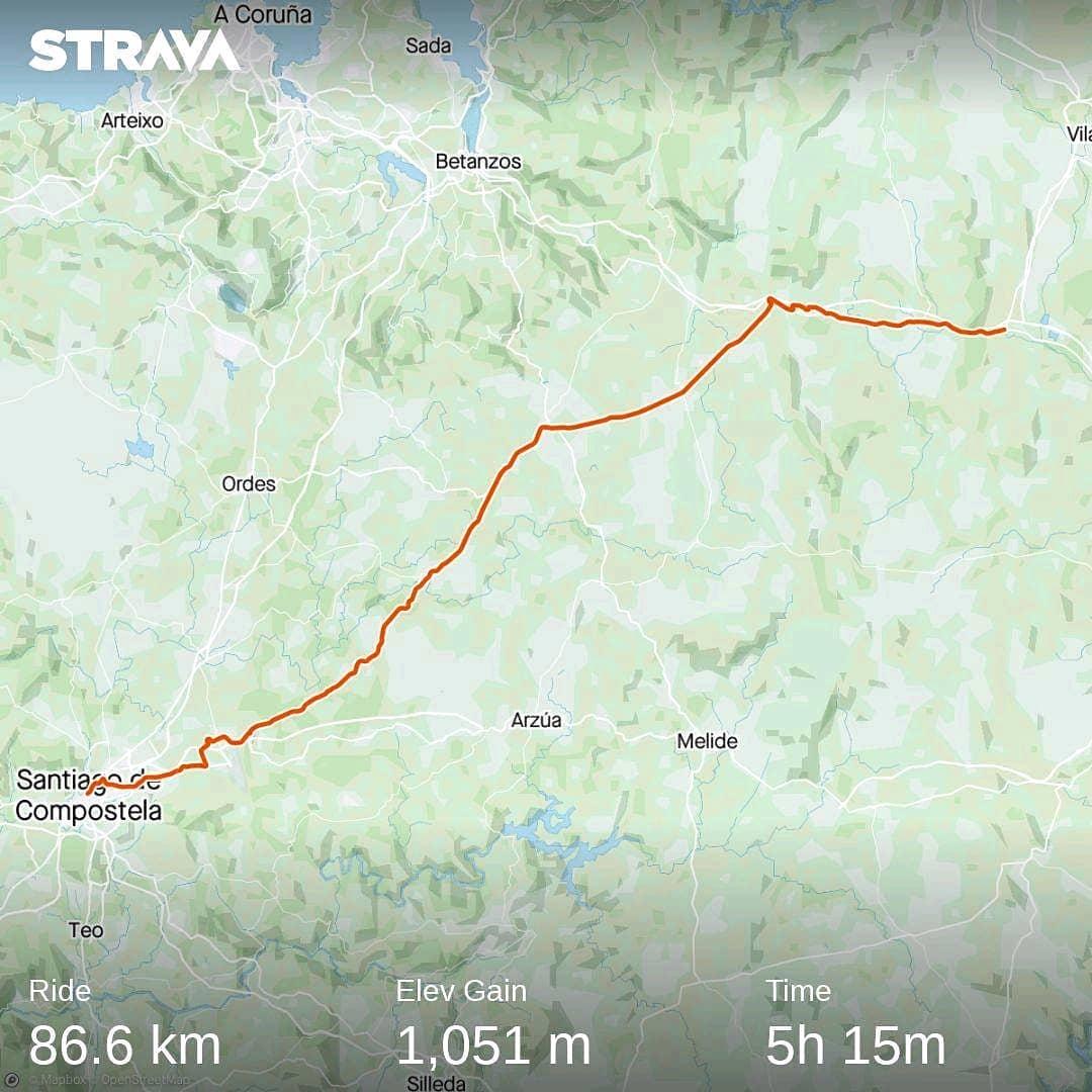 Ride 38 - from Baamonde to Santiago de Compostela (Spain) - 25 July 20