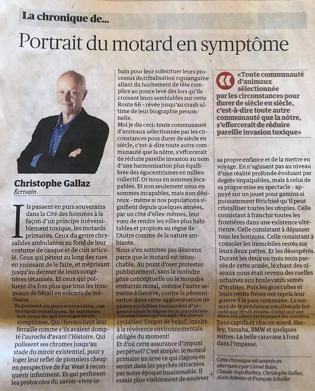 Chronique de Christophe Gallaz