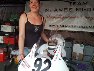 Première étape de la Women's cup au Mans, belle 3eme place en 600cc pour Julie Benard