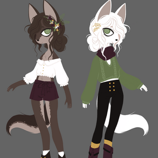 same character; summer & winter coat.