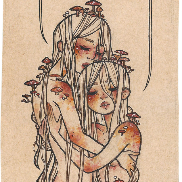 ink & watercolor illustration.