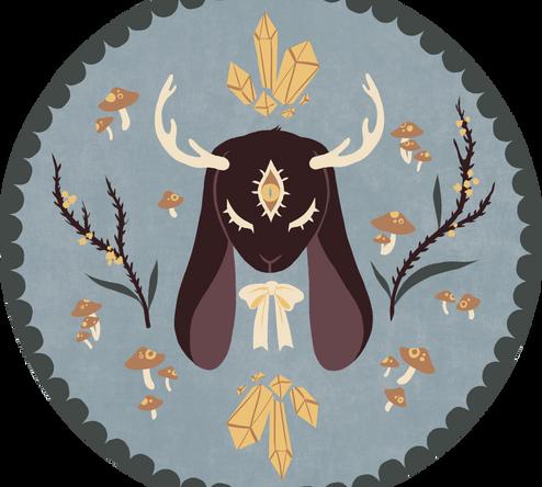 jackalope plate